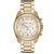Michael Kors Women's Chronograph White Crystal Gold Tone Stainless Steel - Sale