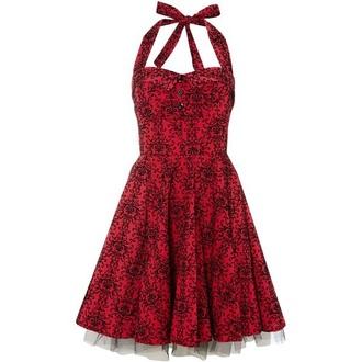 dress red red dress halter neck halter dress lace black and red black black dress