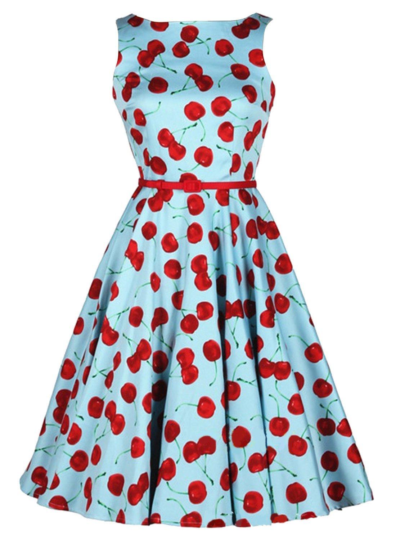 Coco Women\'s 50s Vintage Retro Cherry Dresses at Amazon Women\'s ...
