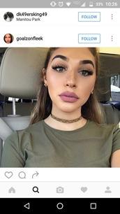 make-up,lipstick,lips,pink,choker necklace,matte lipstick,lip color
