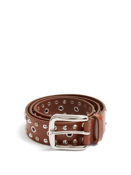Isabel Marant embellished belt leather brown