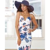 dress,xenia boutique,floral dress,midi dress,bodycon dress,fashion