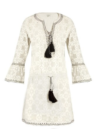 dress embroidered cotton white black