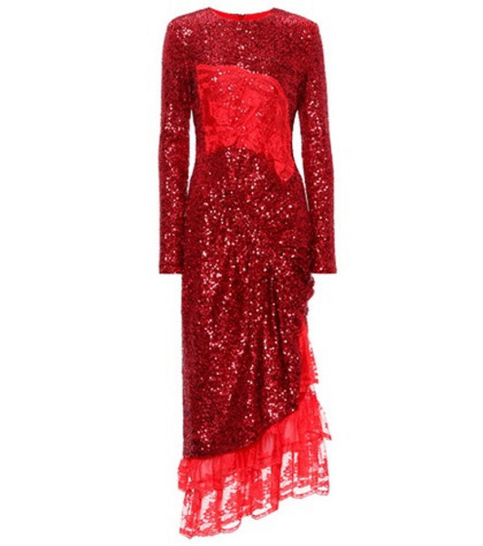 Preen by Thornton Bregazzi Mae sequinned dress in red