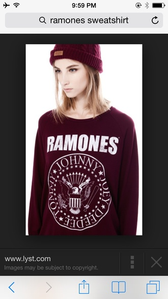 colorful ramones sweater