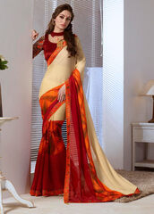 dress,stylish printed saree,indian sarees,women sarees,casual saree