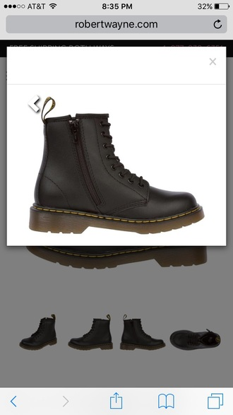 shoes black zipped drmartens combat boots