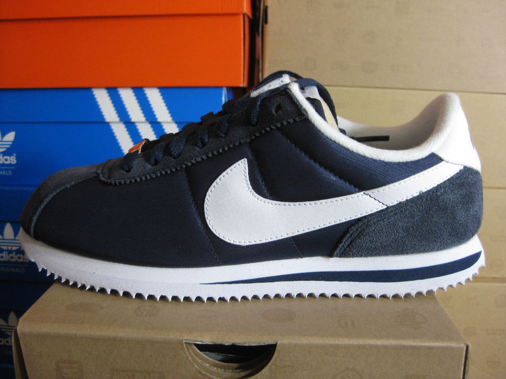 NIKE CORTEZ NYLON MIDNIGHT NAVY-WHITE 317249 413