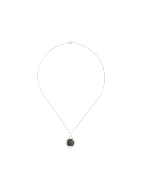 rachel jackson women birthstone necklace silver grey metallic jewels