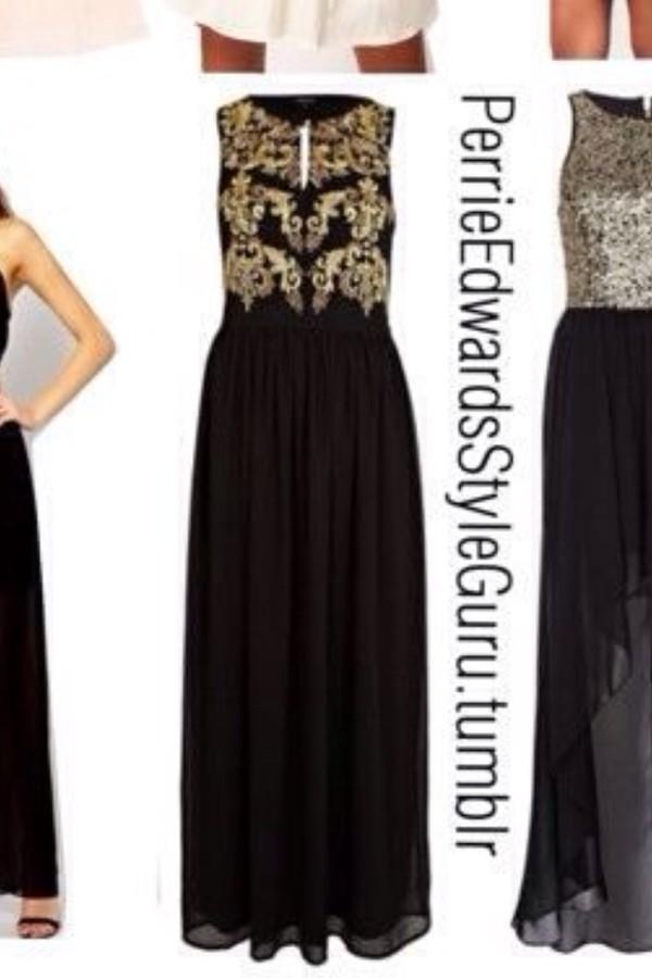 dress prom prom dress long prom dress black dress gold dress gold details