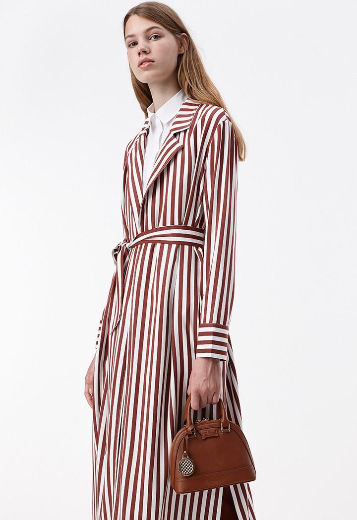 Stripe Embroidered Outerwear | Geometrics | Riva Fashion Online