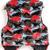 Grey Red Sleeveless Leopard Faux Fur Vest - Sheinside.com