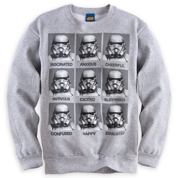 Stormtrooper Emotions Star Wars Movie T Shirt Funny Crew Neck ...