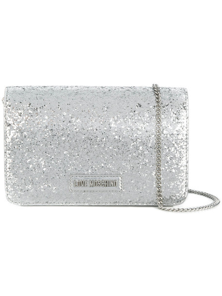 glitter women bag shoulder bag grey metallic