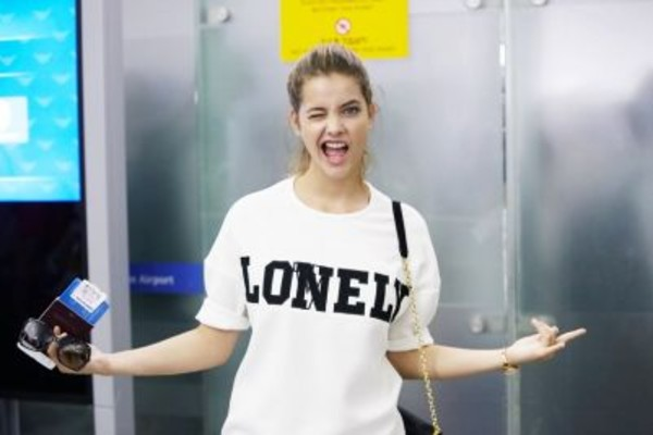 shirt white barbara palvin bag