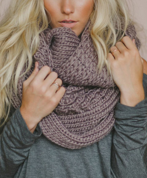 scarf mocha knitted scarf infinity scarf chunky scarf helpmefindthis oversized