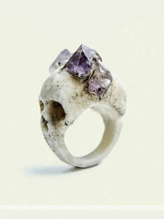 jewels gemstone skull ring ring skirt bandage skirt too set