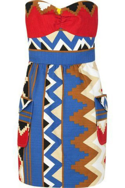 dress african pattern african print strapless dress multicolor