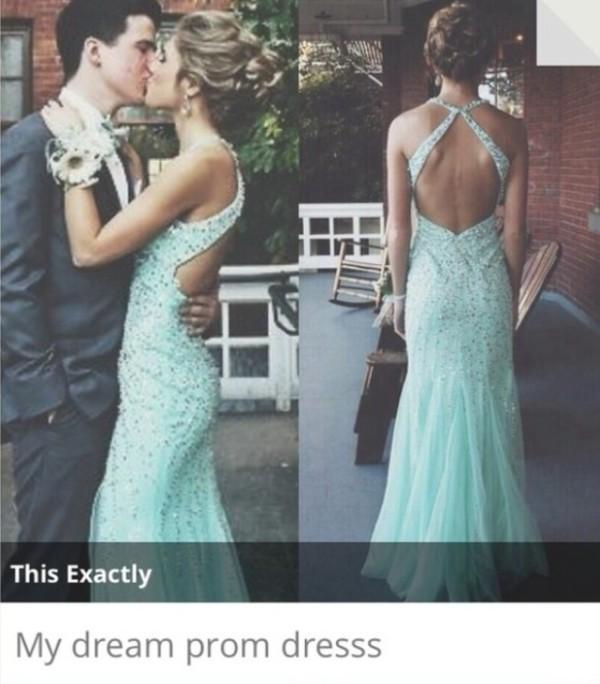 Dress: prom, prom dress, blue, blue prom dress, blue prom dress ...