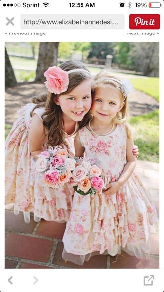 dress floral dress pink dress tutu