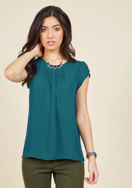 FD85980P blouse top green blouse style chic blue green
