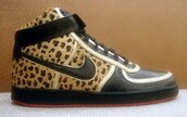 nike,leopard print,high top sneakers,high tops,red sole,jacket,shoes