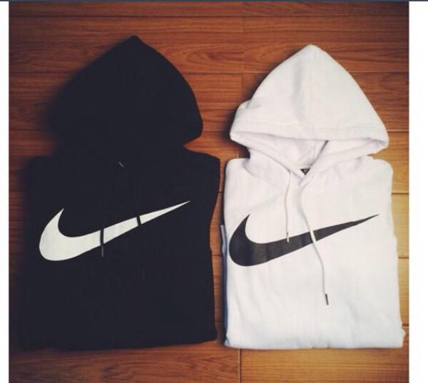 sweater nike hoodie black