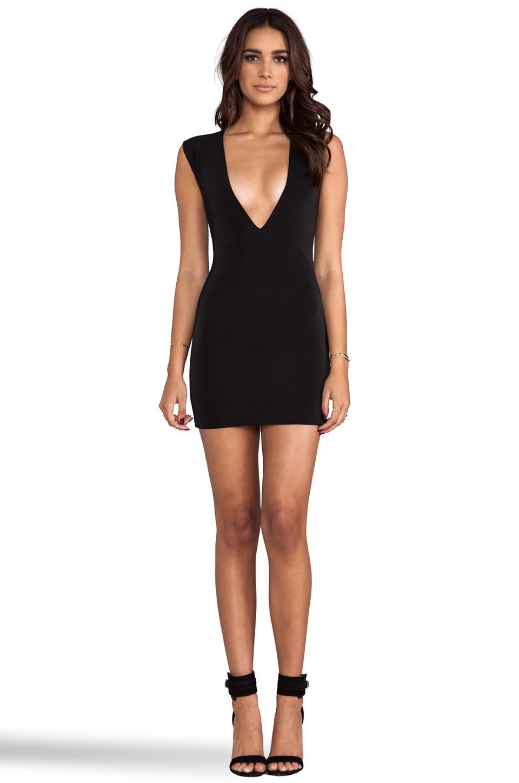Aq/aq sparta mini dress in black