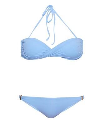 bikini bandeau bikini light blue light blue swimwear