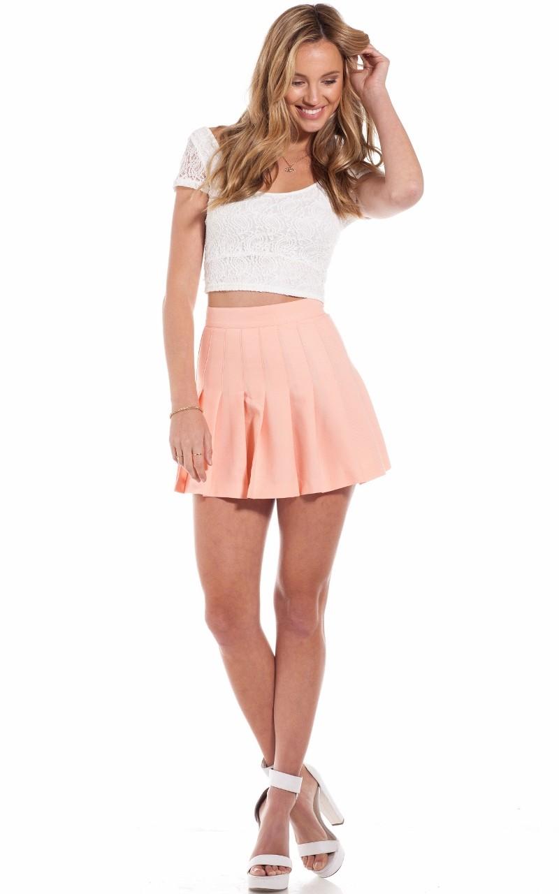 Netball skirt in peach   SHOWPO Fashion Online Shopping