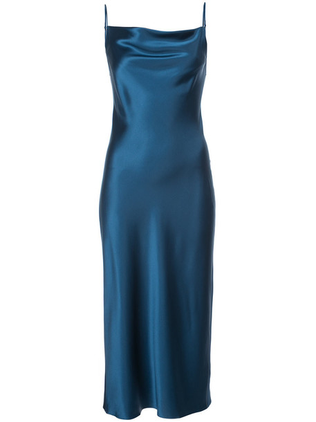 Fleur du Mal dress slip dress women blue silk