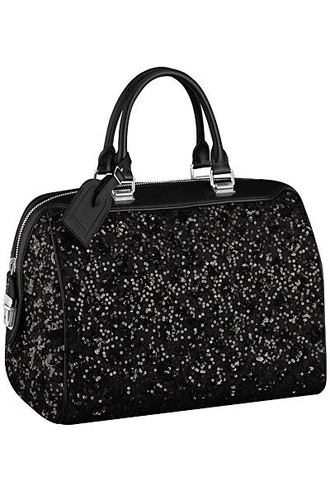 bag black purse louis vuitton sequins glitter handbag louis vuitton bag
