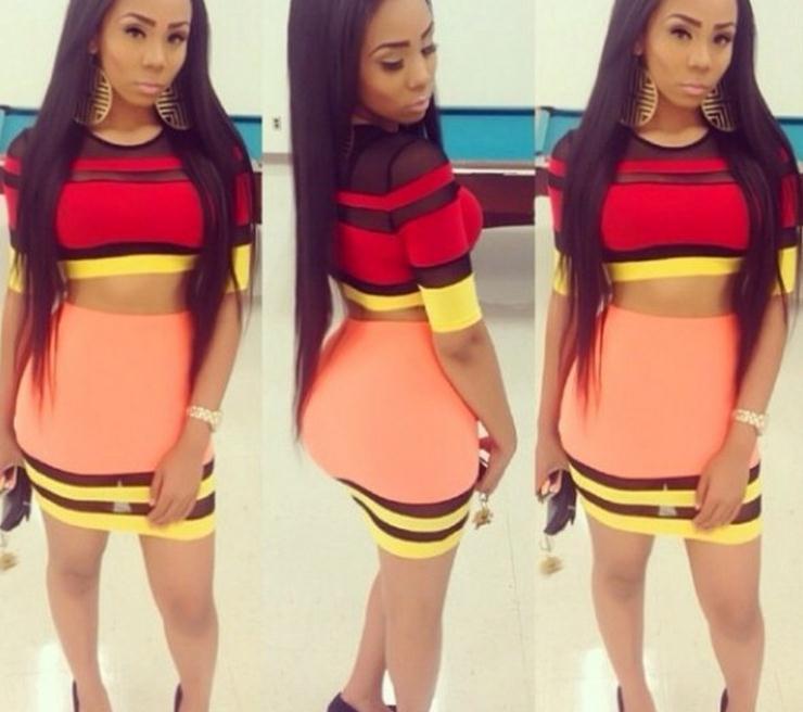 Fashion cute colorful dress