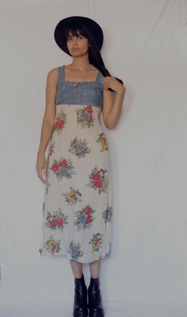 90s grunge maxi dress fashion