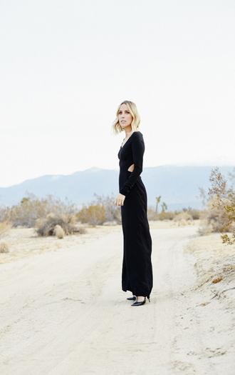 cut-out dress black dress damsel in dior blogger