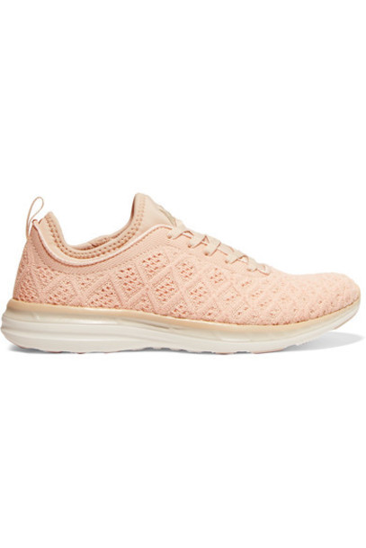 APL Athletic Propulsion Labs mesh sneakers peach shoes