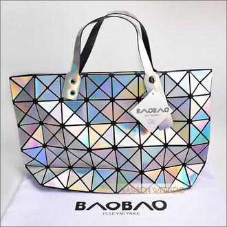 bag laser silver metallic holographic