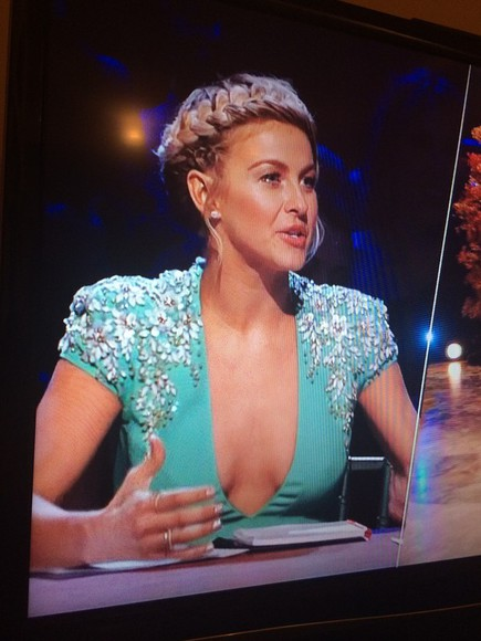 teal dress rhinestones teal bling julianne hough dancing with the stars