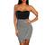 Striped Asymmetrical Sweetheart Dress | Emprada