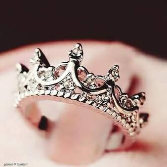 jewels ring diamonds queen princess silver