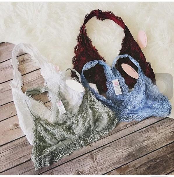bralette underwear lace bralette