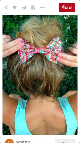 hair accessory bow t-shirt