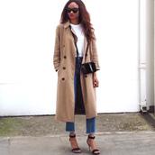 symphony of silk,blogger,coat,t-shirt,jeans,shoes,bag