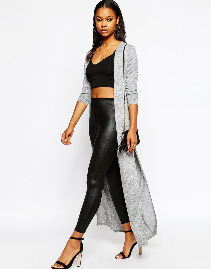 Split Side Maxi Cardigan at asos.com