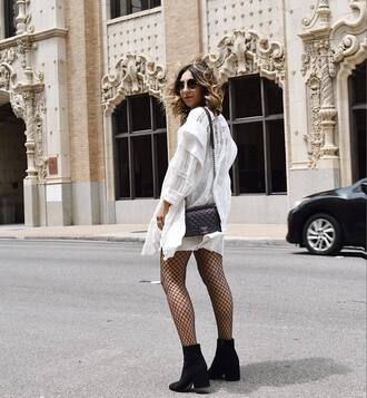 dress tumblr mini dress white dress lace dress white lace dress long sleeves long sleeve dress net tights boots black boots bag