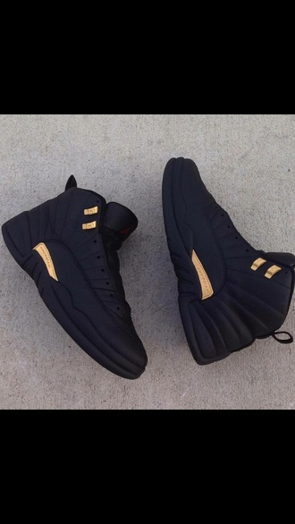 shoes black and gold jordans jordans black jordan retro 12 gold sneakers leather price brand