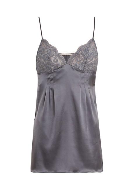 STELLA MCCARTNEY LINGERIE top silk satin grey