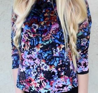 shirt floral topshop velvet