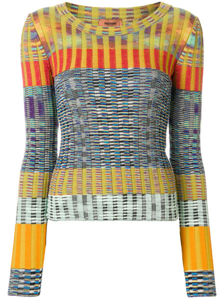 Missoni top women wool knit