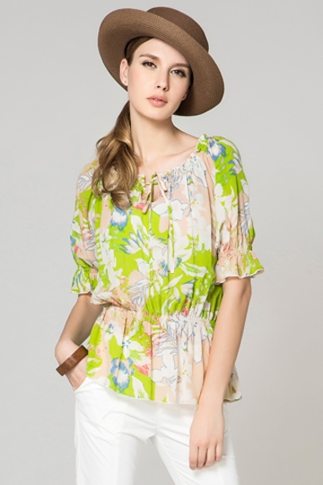 Sweet Printed Half Sleeves Shirt [FDBI00441]- US$ 102.99 - PersunMall.com